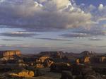 Sunrise light on Monument Valley from Hunts Mesa, Arizona