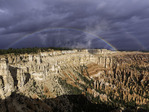 Monsoon rainbow from Bryce Point, Bryce Canyon NP, Utah