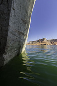 View from a grotto in Rock Creek Bay, Lake Powell, Utah