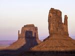 West Mitten shadow on East Mitten, Moument Valley, Arizona