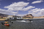 Watersports from a houseboat in Oak Canyon, Lake Powell