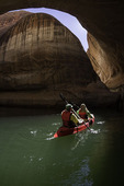 Kayaking at Cathedral In The Desert, in Clear Creek Canyon, Escalante Arm of Lake Powell, Utah