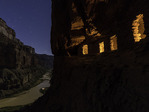 Moonlight and starlight at Nankoweap, Colorado River, Grand Canyon Naptional Park, Arizona