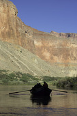 Rowing a dory in Grand Canyon National Park, Arizona