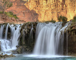 Rock Falls, Havasupai reservation, Grand Canyon, Arizona