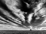 Autumn clouds over Shiprock, New Mexico