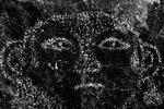 Petroglyph of a face, at Three Rivers Petroglyph Site, near Tularosa, New Mexico
