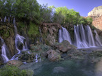 New Navajo Falls, Havasupai Reservation, Grand Canyon, Arizona