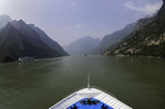 The Century Paragon cruises up the Wu Gorge of the Yangzte River, China