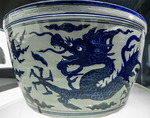 Jar with underglaze blue design of dragons amid clouds, Jingdezhen Ware, Jiajing Reign, Ming Dynasty, Shanghai Art Museum, Shanghai, China