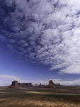 Clouds sweep over Monument Valley, Arizona