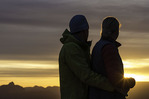 Watching sunrise from Yavapai Point, Grand Canyon National Park, Arizona