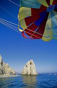 Parasailing over El Arco, Cabo San Lucas, Baja California Sur, Mexico
