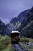 Riding the Durango & Silverton Railroad southbound through the San Juan Mountains of Colorado