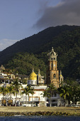Cathedral of Guadalupe, from the ocean, Puerto Vallarta, Jalisco, Mexico