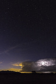 Lightning and stars, New Mexico