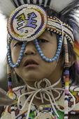 Native American dancer at Taos Powwow 2015, Taos Pueblo, New Mexico