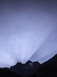 Sunrise over the Bluemlisalphorn, above Oeschinensee, near Kandersteg, Switzerland