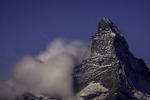 Stars track and clouds swirl over the Matterhorn, from the Berghaus Fluhalp, Zermatt, Switzerland