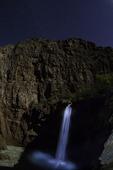 Mooney Falls by moonlight and starlight, plus painted light, Havasupai Reservation, Grand Canyon, Arizona