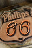 Phillips 66 neon sign, in front of the famous General Store, Hackberry, Arizona