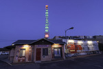 Twilight at El Trovatore Motel, Kingman, Arizona
