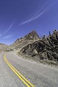 Route 66 winds north to Oatman, Arizona
