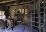 The jail at the recreated ghost town of Castle Dome, Arizona