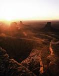 Sunrise from atop Mitchell Mesa, Monument Valley, Arizona