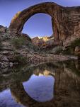 Rainbow Bridge reflection, Glen Canyon National Recreation Area, Lake Powell, Utah