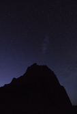 Stars over the Temple of the Sun, Cathedral Valley, Capitol Reef National Park, Utah