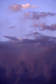 Virga falls at sunset, Cathedral Valley, Capitol Reef National Park, Utah