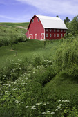 Red barn, Palouse, Washington