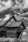This leaning schoolhouse dates to 1886, and survives to this day in the farm country of Palouse, Washington