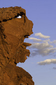 The sandstone ogre at sunset, Devil's Fire, Nevada