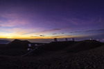 Sunset over the telescopes atop Mauna Kea, Big Island, Hawaii