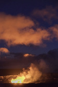 Glow on the clouds from Kilauea, Hawaii Volcanoes National Park, Big Island, Hawaii