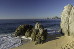 Lonely beach at dawn, Cabo San Lucas, Baja California Sur, Mexico
