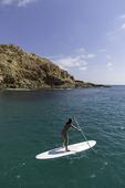 SUP in Santa Maria Bay, Los Cabos, Baja California Sur, Mexico