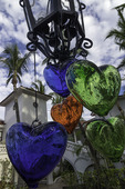 Glass hearts decorate the One & Only Palmilla, Los Cabos, Baja California Sur, Mexico