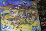 Painting of Todos Santos in a shop in Todos Santos, Baja California Sur, Mexico