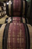 Aging red wine, E. Guigal Winery, Ampuis, Rhone Valley, France