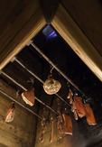 Curing meat at Hotel Hameau Alpert, Chamonix, France