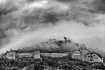 The Bastille rises above Grenoble, France