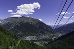 View of Courmayeur, Italy
