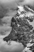 The Eiger looms over Murren, Bernese Oberland, Switzerland