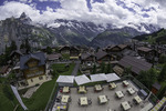 View of the Jungfrau from the Hotel Bellevue, Murren, Bernese Oberland, Switzerland