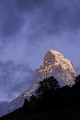 The Matterhorn towers over Zermatt, Switzerland