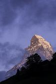 The Matterhorn towers over Zermatt, Switzerland