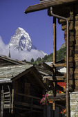 The Matterhorn towers over Zermatt. Switzerland